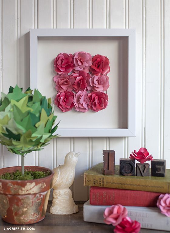 Paper Rose Framed Artwork