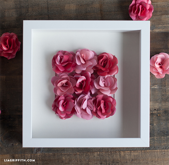 Paper Rose Framed Art Work
