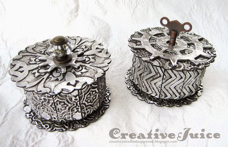 Faux Metal Trinket Box