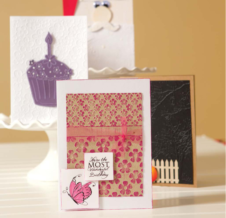 _Embossing Ideas: 4 Creative Cards