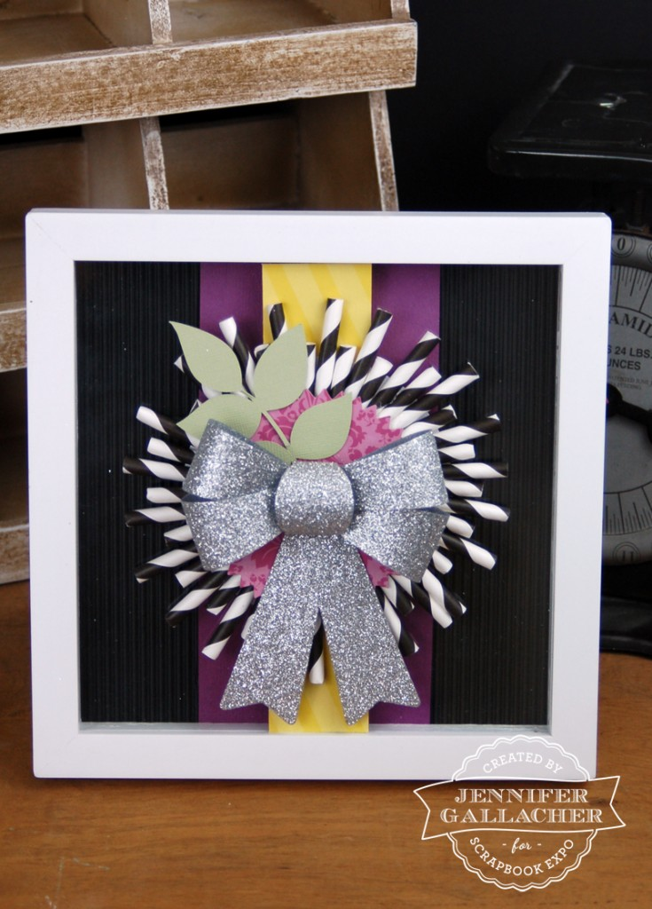 Drinking Straw Wreath Frame created by Jen Gallacher for The Weekly Scrapper blog