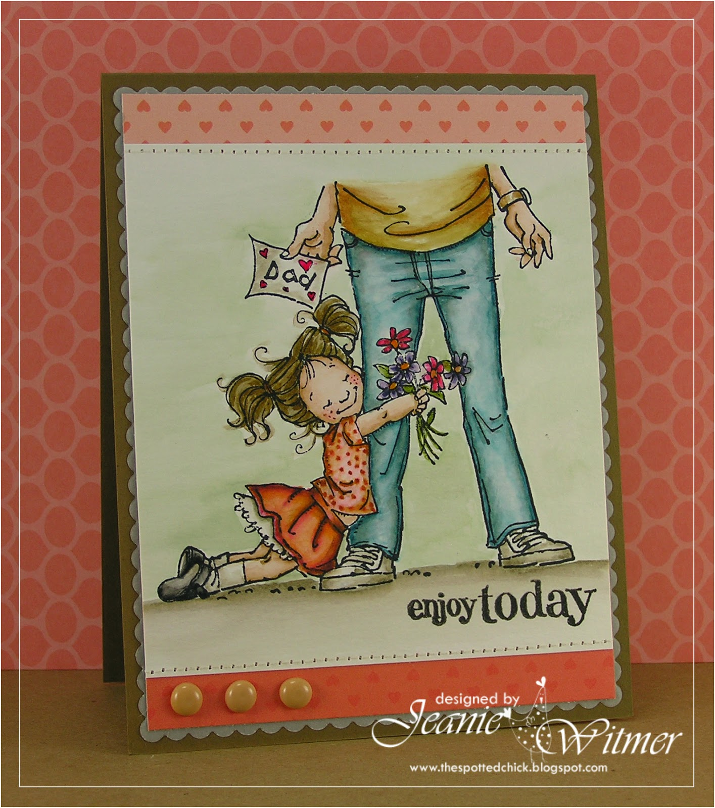 Enjoy Today Card-Jeanie Witmer-The Spotted Chick
