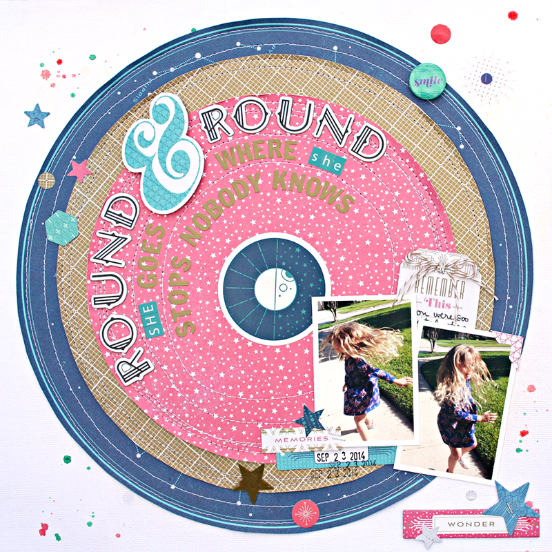 Round and Round she goes by Heather Leopard