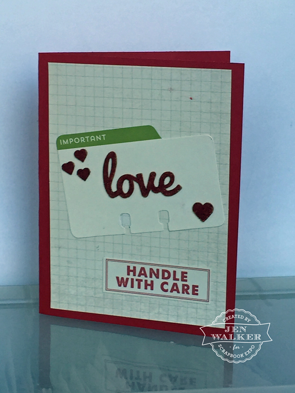 Love card by Jen Walker for the Weekly Scrapper