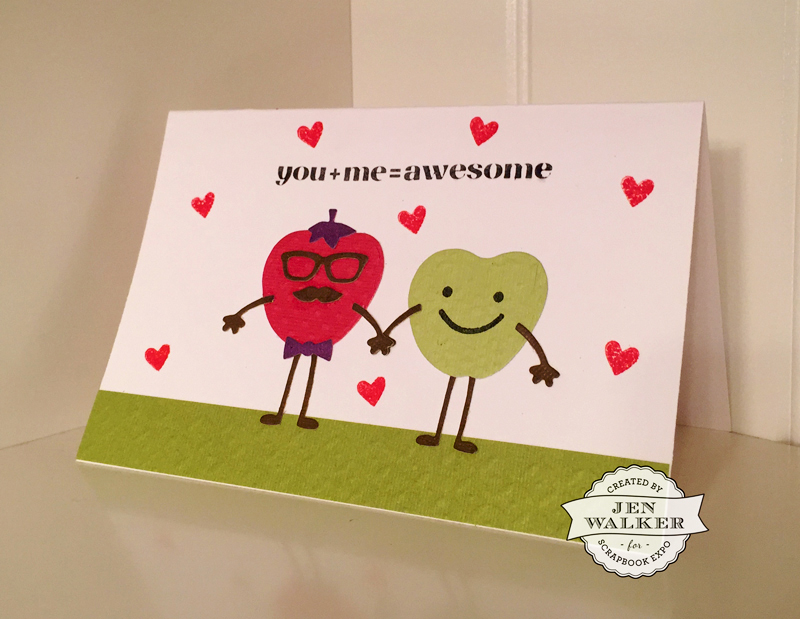 You + Me = Awesome by Jen Walker for Weekly Scrapper