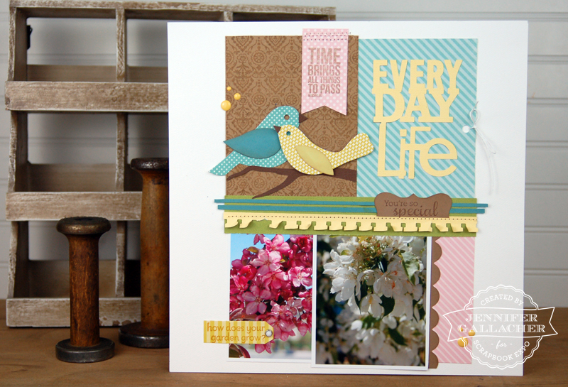 Everyday-Life-Layout-by-Jen-Gallacher designed for the Weekly Scrapper blog from Scrapbook Expo