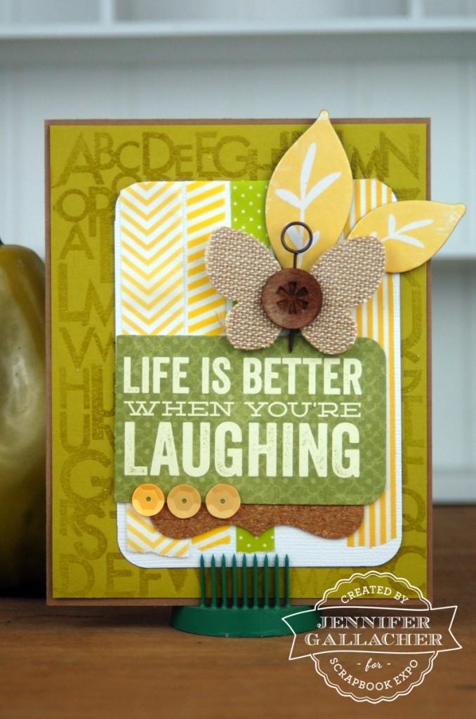 Life is Better Card by Jennifer Gallacher