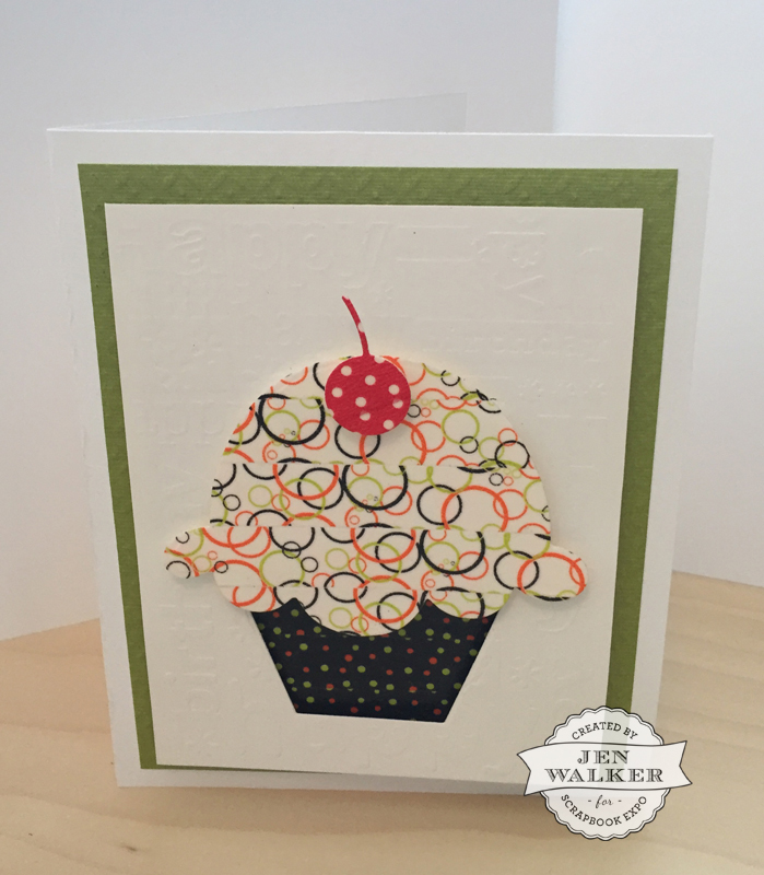 Cupcake card by Jen Walker for Scrapbook Expo