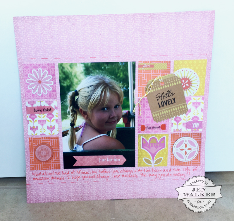 Hello Lovely by Jen Walker for Weekly Scrapper