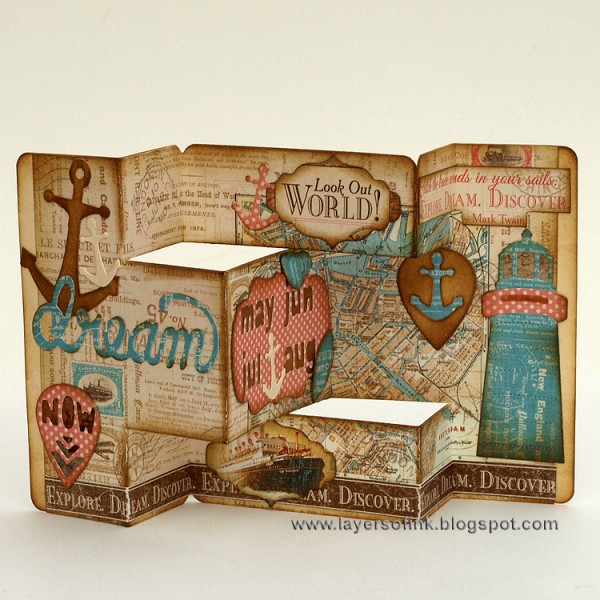 Sizzix Inspiration | Nautical Tri-Shutter Card by Anna-Karin Evaldsson