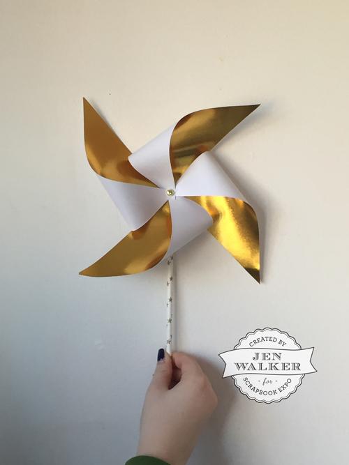 Gold Pinwheel by Jen Walker