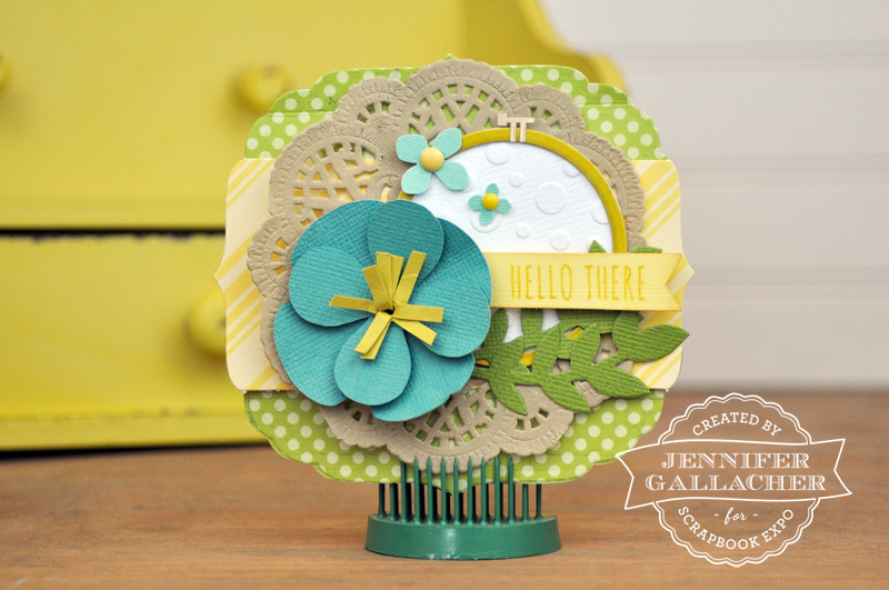 Hello There Card by Jen Gallacher for the Scrapbook Expo Weekly Scrapper blog