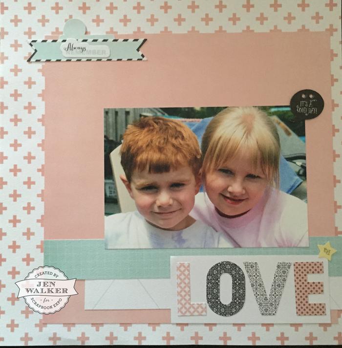 Love layout by Jen Walker