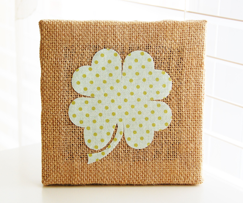 roree rumph_lucky_die cut fabric_burlap canvas_step9