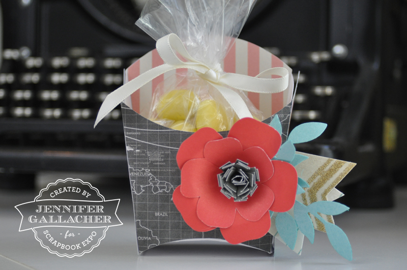 Flower Treat Box by Jen Gallacher for the Weekly Scrapper blog for the Scrapbook Expo