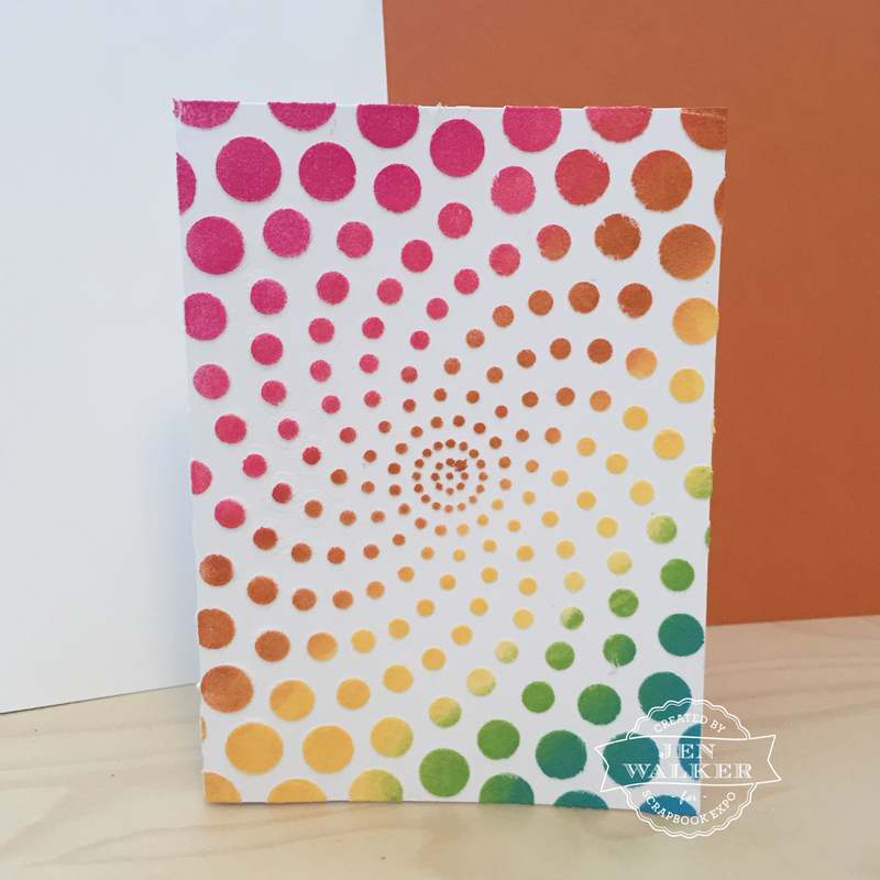 Rainbow Dot Card by Jen Walker