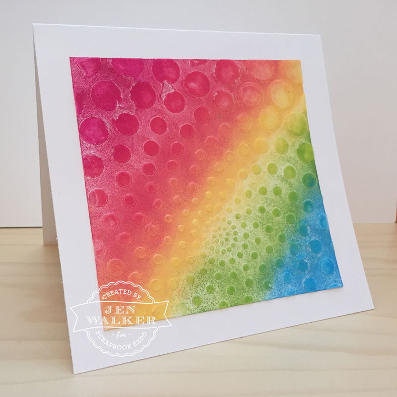 Rainbow Card by Jen Walker
