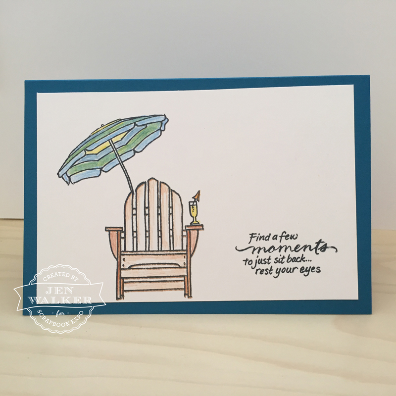 Beach Scene card by Jen Walker