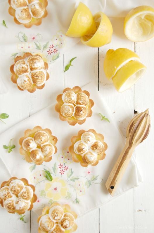 Lemon Maringue Shortbread Tartlets