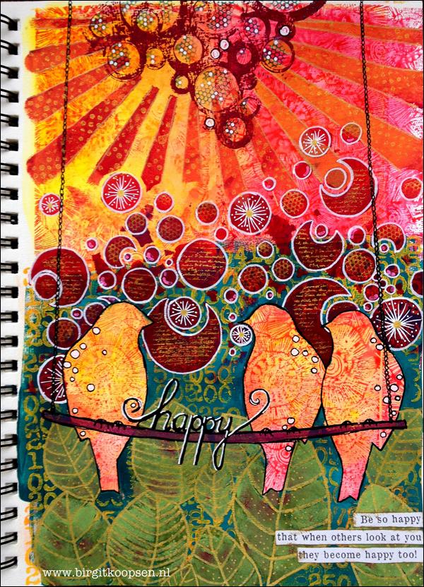 Bee Happy! designed by Birgit Koopsen