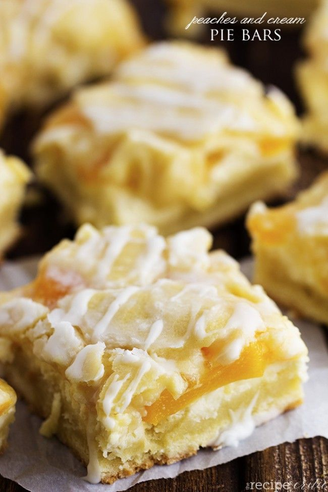 Peaches & Cream Pie Bars