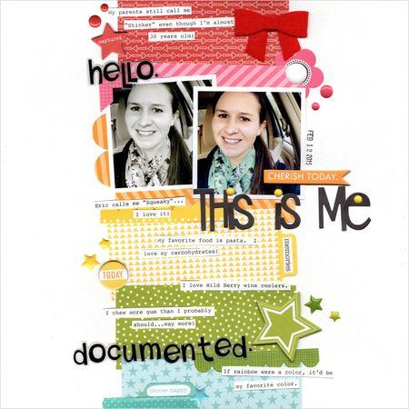 Me Documented designed by Kat Benjamin