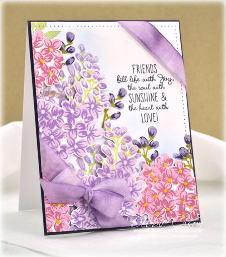 Multi-Step Lilac Stamping: Friends