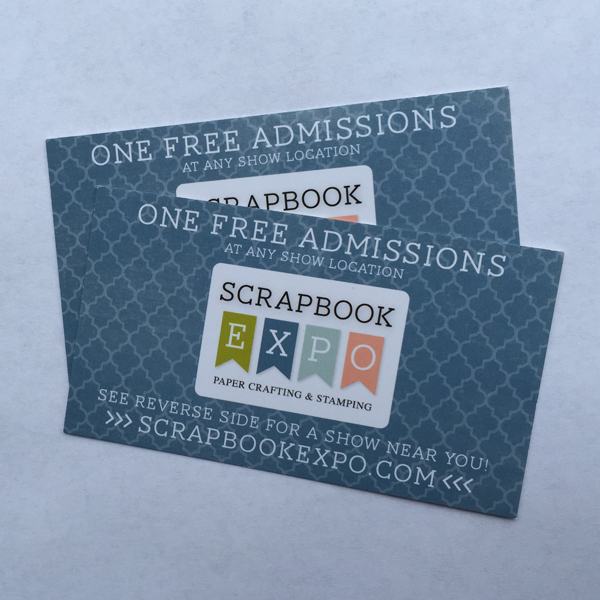 Scrapbook Expo Free Admission Tickets