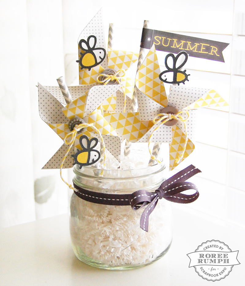 Summer pinwheel home d cor stamp scrapbook expo for Home decor expo 2015