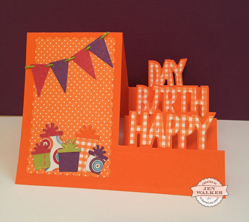 Sizzix Birthday Card by Jen Walker for Scrapbook Expo
