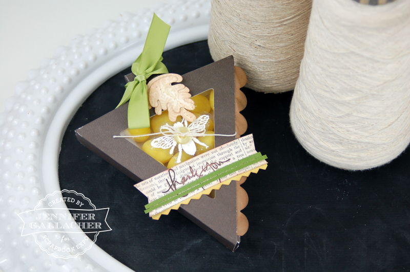 Triangle Treat Box Tutorial with Jen Gallacher for the Weekly Scrapper Blog hosted by the Scrapbook Expo