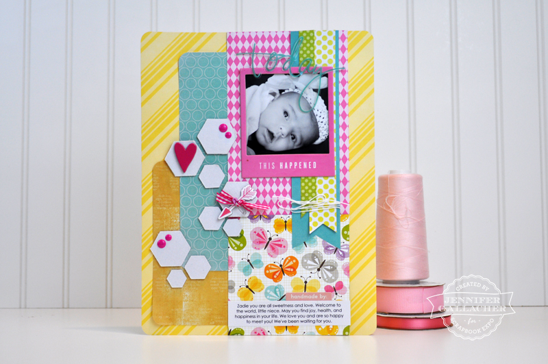 Today This Happened Layout by Jen Gallacher for the Weekly Scrapper blog hosted by Scrapbook Expo