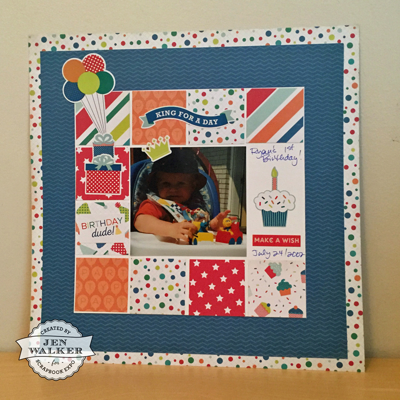 Birthday Boy by Jen Walker for Scrapbook Expo - Weekly Scrapper