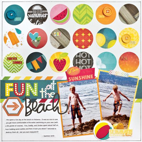 Fun at the Beach by Brenda Cazes