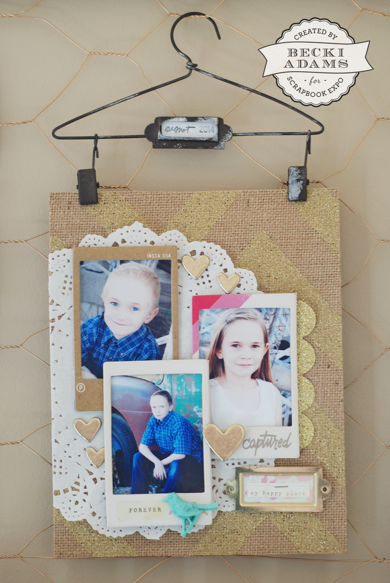 Photo Hanger by @jbckadams Becki Adams for Scrapbook Expo