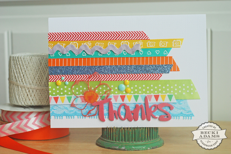 a card created with scraps of ribbon by @jbckadams Becki Adams