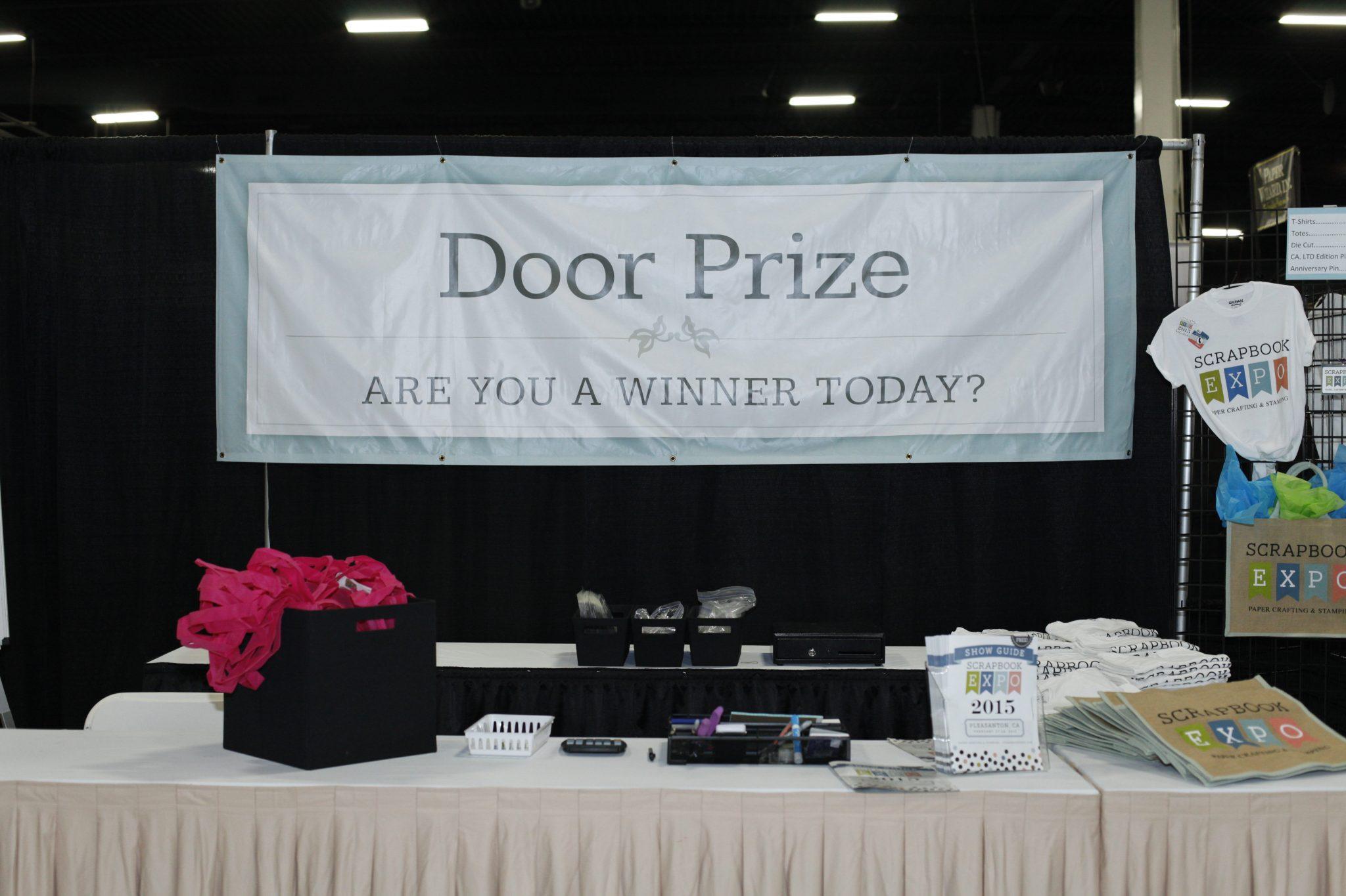 Door prizes stamp scrapbook expo for Idea for door prizes