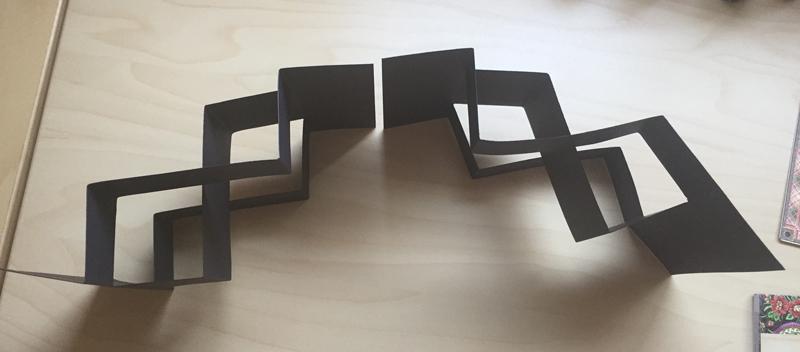 Double tri fold shutter card