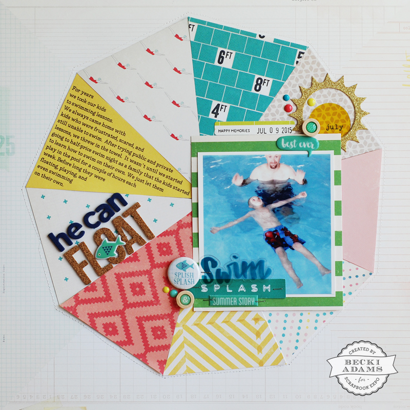 created by @jbckadams for @scrapbookexpo including a process video #scrapbookexpo #scrapbooking #processvideo