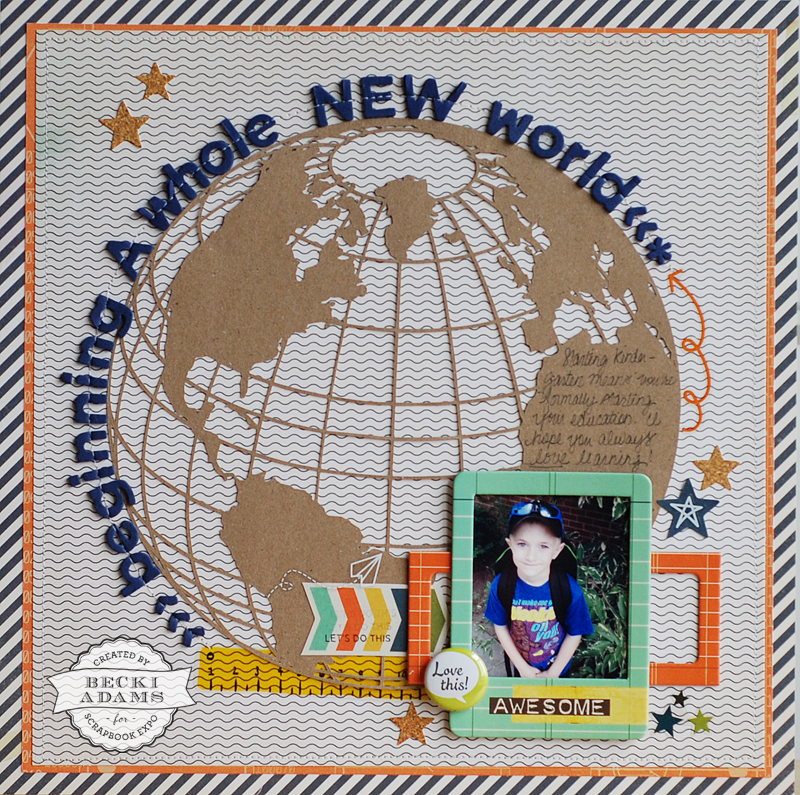 Creating a layout with a large die cut by @jbckadams (Becki Adams) for Scrapbook Expo