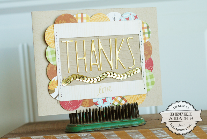 How to create a scalloped border by @jbckadams {Becki Adams} for Scrapbook Expo