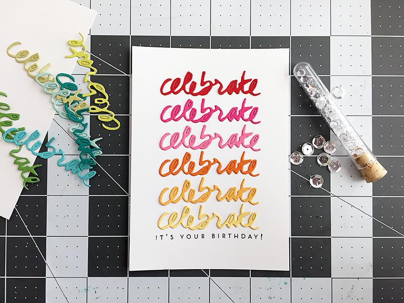 Celebrate - add sequins