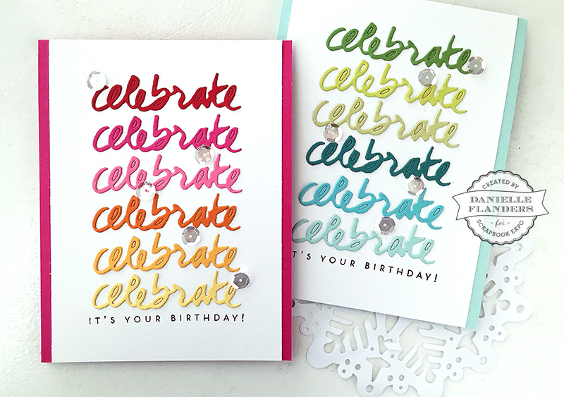 Celebrate card set by Danielle Flanders