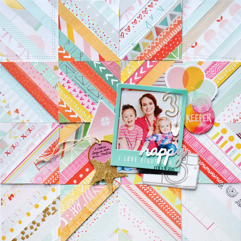 Happy Layout by Paige Evans