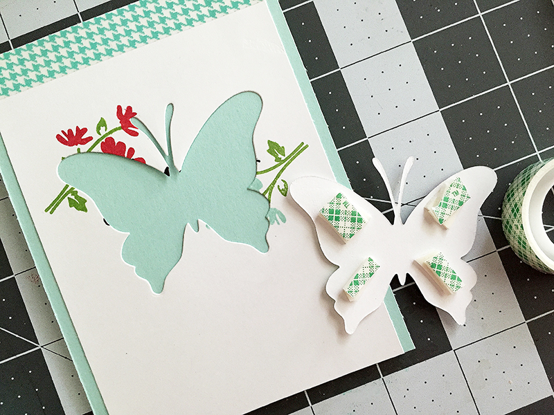 butterfly - add foam adhesive