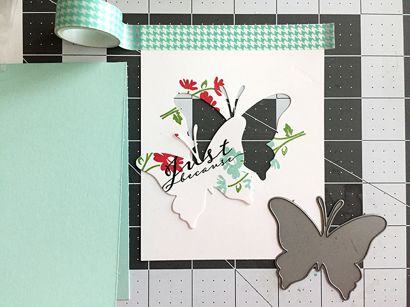 butterfly - after die cutting