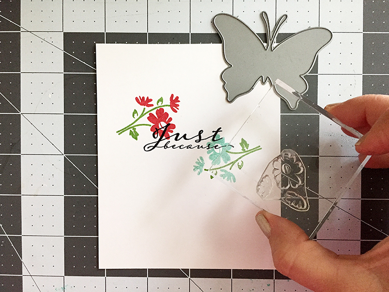 butterfly - stamping flowers2