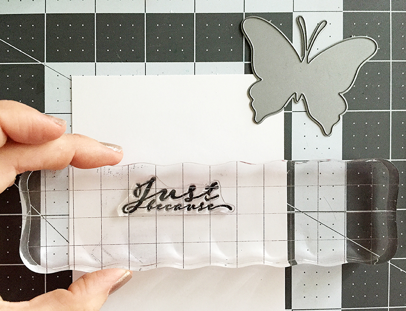 butterfly - stamping