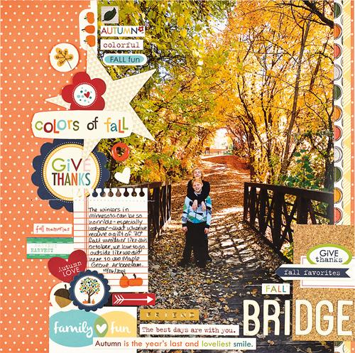 Fall Bridge by Jennifer Larson
