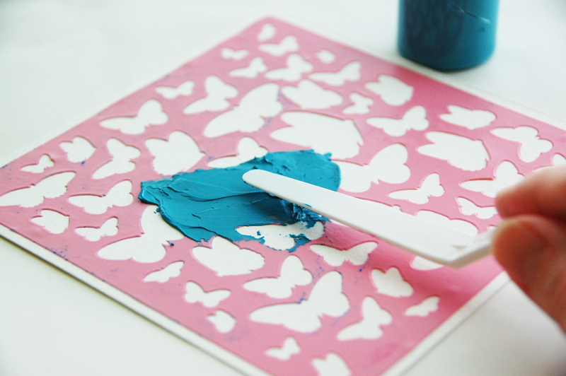 roree rumph_molding paste_stencil_BeYouTiFul_frame_step6